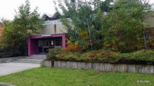 Eingang unserer Sporthalle in Grünau