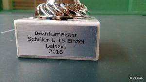 Siegerpokal der Bezirksmeisterschaft im Tischtennis