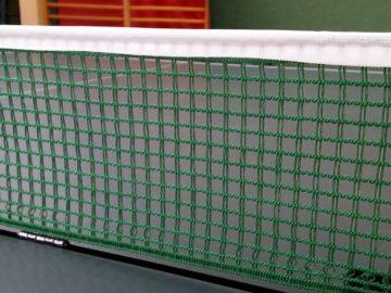 Tischtennisnetz in der Detailaufnahme