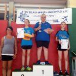 1. Platz. Sandra Naundorf, 2. Platz Jolanda Willberg 3. Platz Julia Dressler, 5. Platz Manuela Conrad