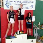 1. Platz Julia Dressler, 2. Platz Hanna Rothe, 3. Platz Susanne Lehmann