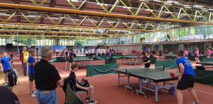 Mannschaftskampf Tischtennis