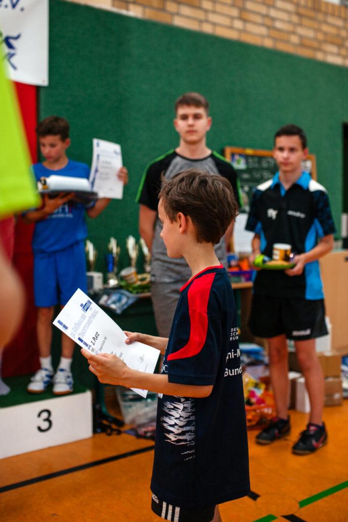 Impressionen der Siegerehrung: Schüler ABC