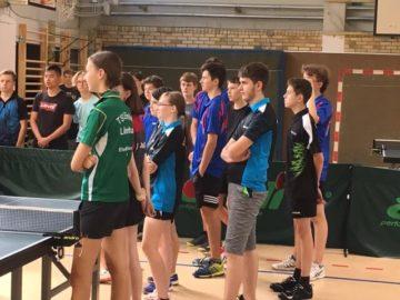 Teilnehmer Stadtmeisterschaft Tischtennis Jugend